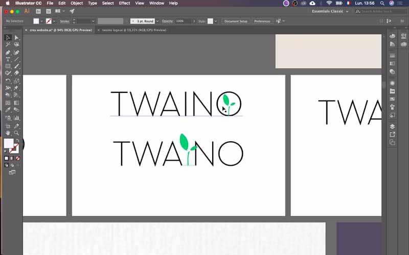 Ebauches de logos Twaino