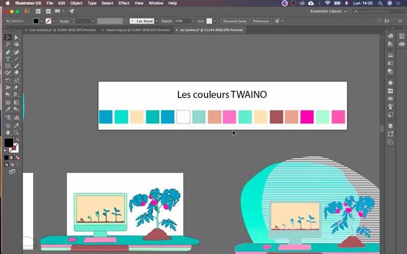 Les couleurs Twaino