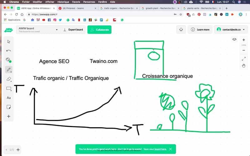 Site Web de couleur verte Twaino