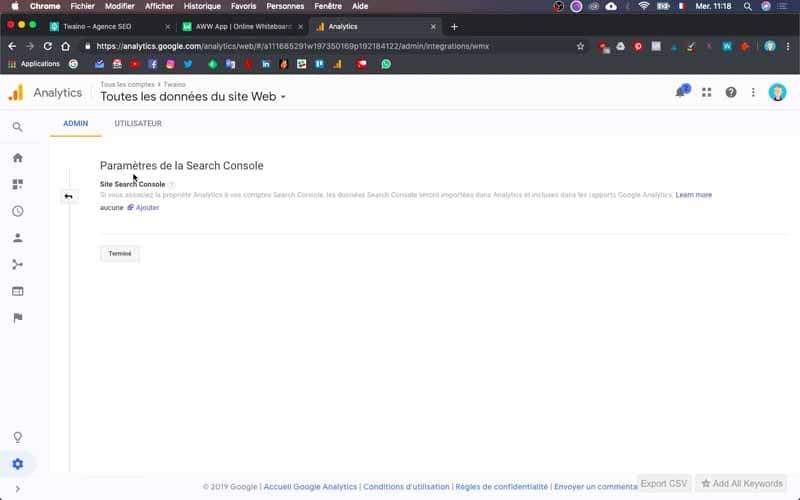 Ajouter un site sur search console