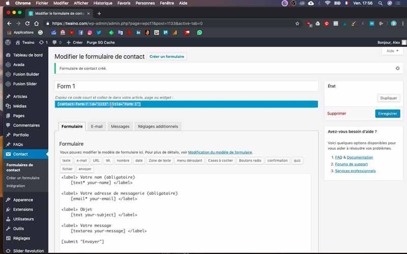 Code contact form 7