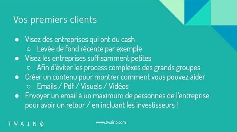 Obtenir vos premiers clients