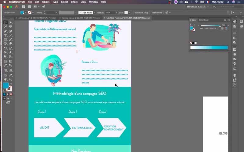 Changement couleurs methodologie campagne SEO