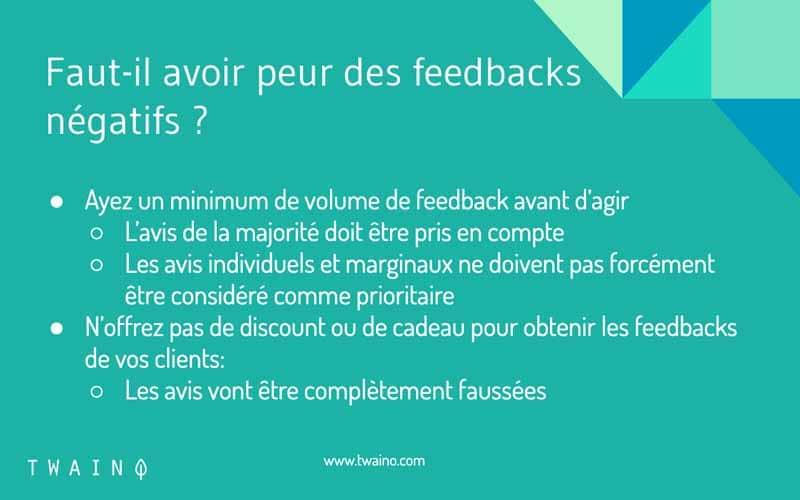 Avoir peur des feedbacks negatifs