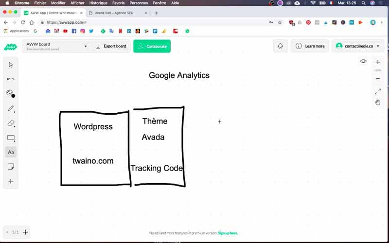 Tracking Code pour Google Analytics