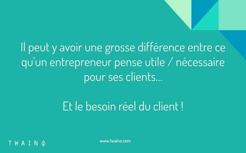 Besoin réel des clients