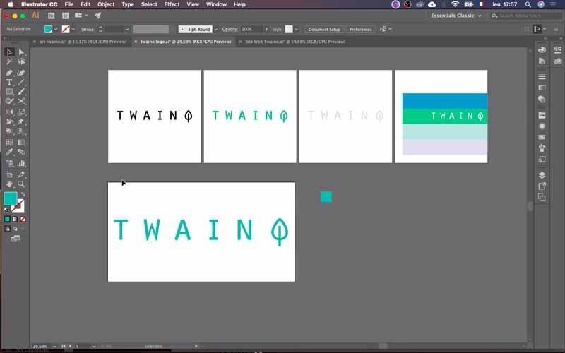 Créer des logos a la bonne taille