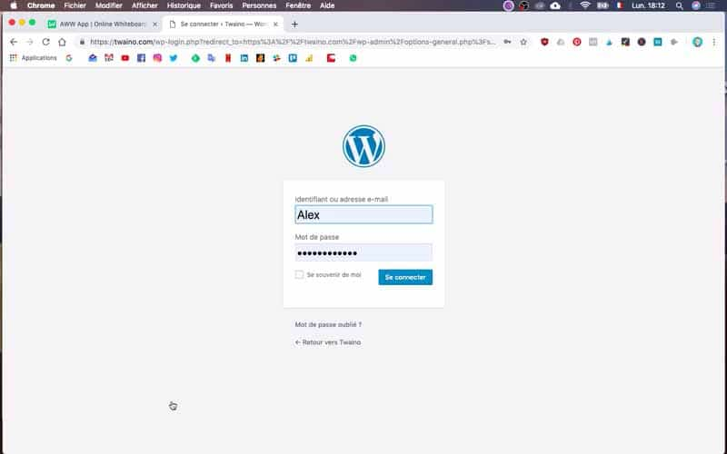 Se reconnecter a wordpress