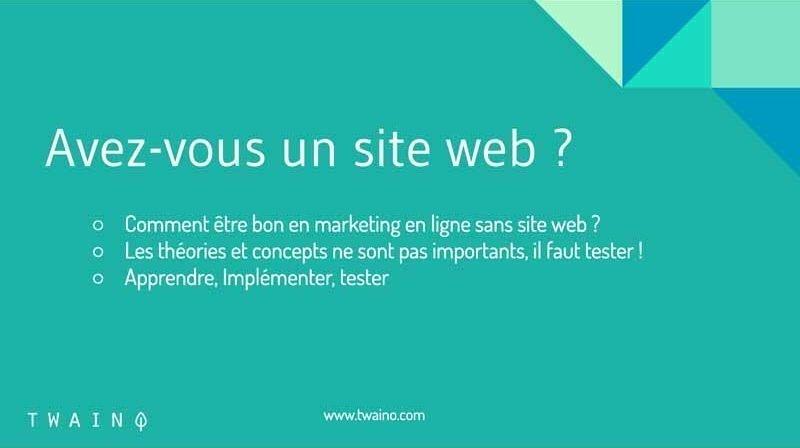 Avez vous un site web