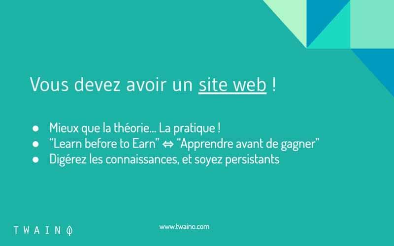 Avoir un site web une obligation pour apprendre le marketing en ligne