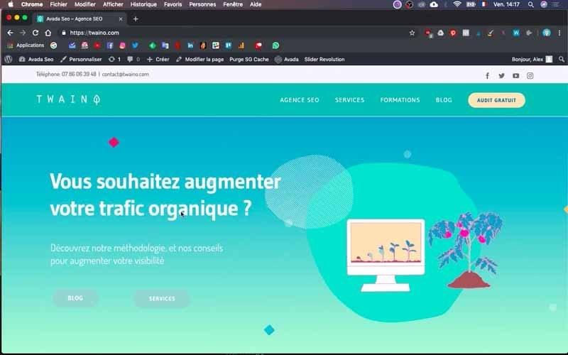 1 Utilisation fusion builder site web