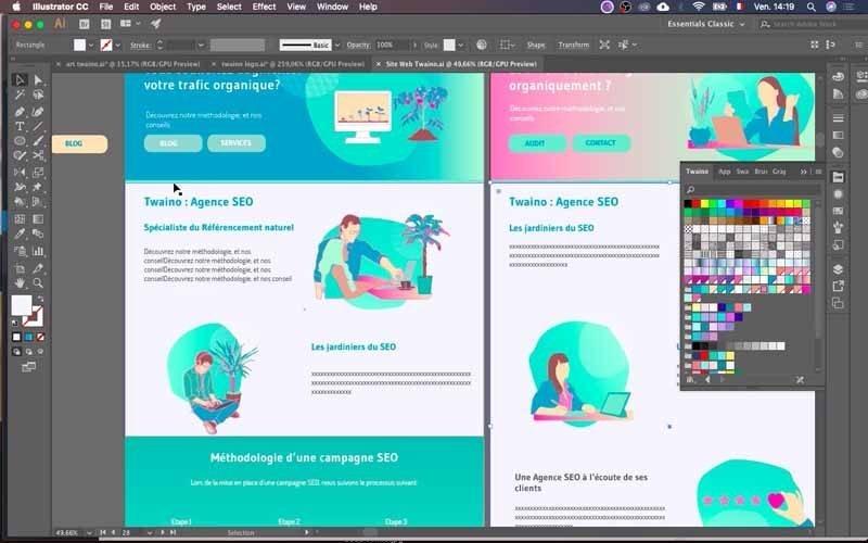 12 Maquette site web ligne verte