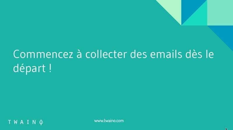 2 Collecter les emails des le depart
