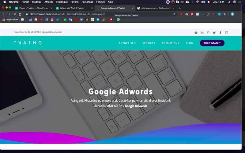 21 Effacer la page Google Adwords