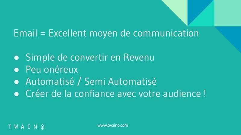 3 Email excellent moyen de communication