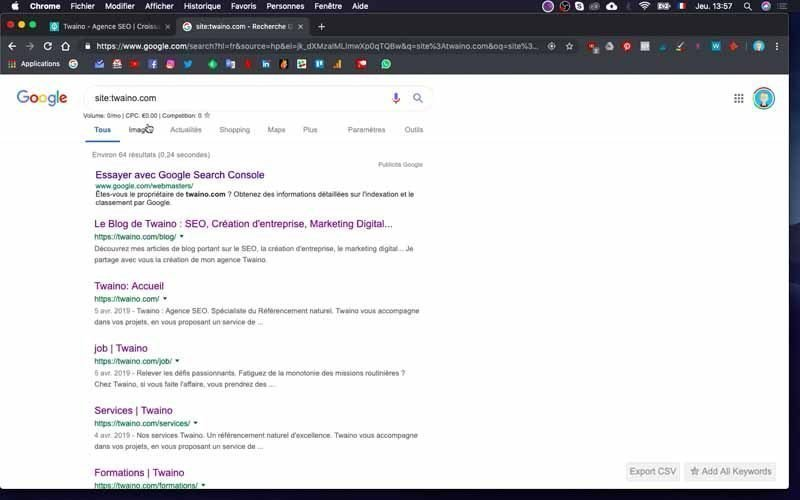 4 Consulter les resultats indexations
