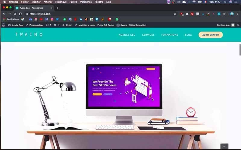 4 Site web avant changement fusion builder