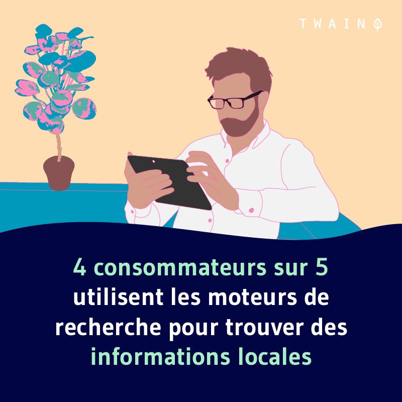 4 utilisateurs sur 5 utilisent un moteur de recherch pour trouver des informations locales 2