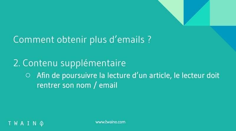 5 Propose du contenu supplementaire
