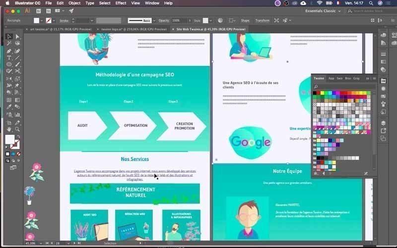6 Presentation de la maquette du site