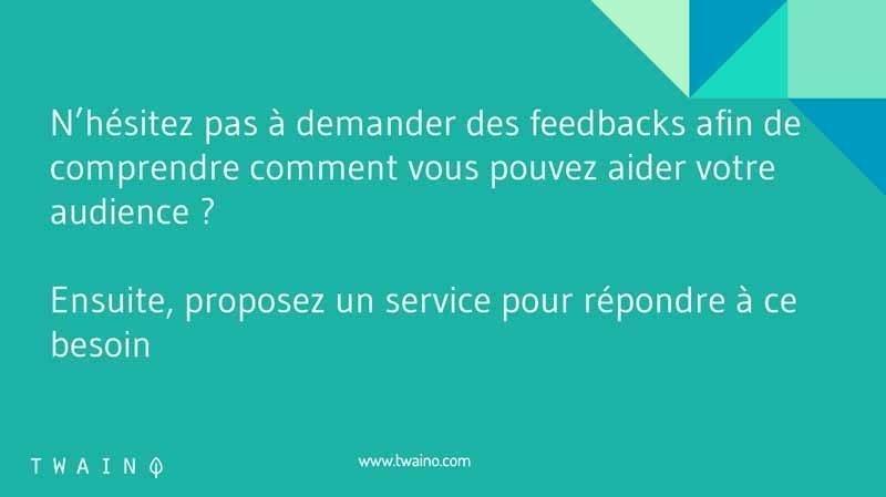 Comprendre avec des feedbacks