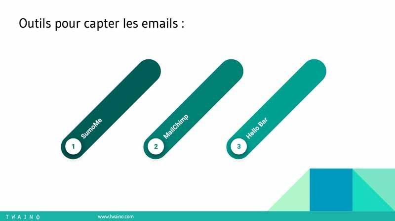 5 Outils pour capter les emails