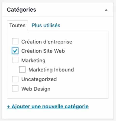 8 Categorie creation de site web