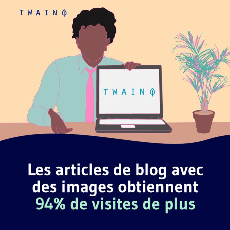 Les articles de blog avec des images obtiennent 94% de visites de plus