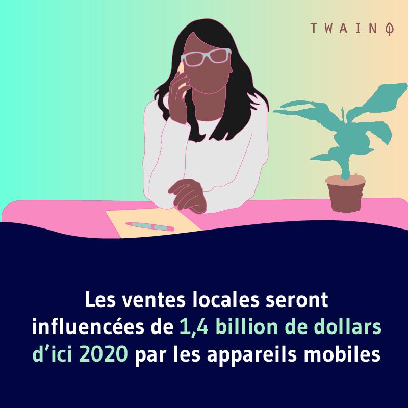 Les ventes locales influencees de 1 milliards avec le smartphone