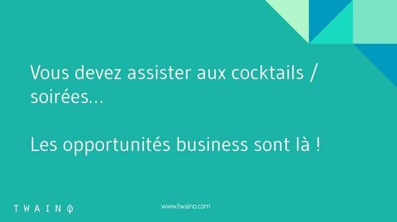 Assistez aux cocktails