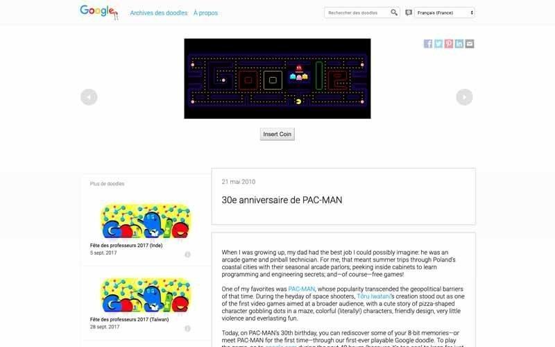 Doodles Google Pacman
