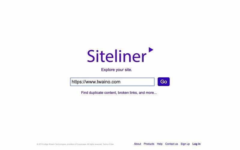 Siteliner entrez votre url