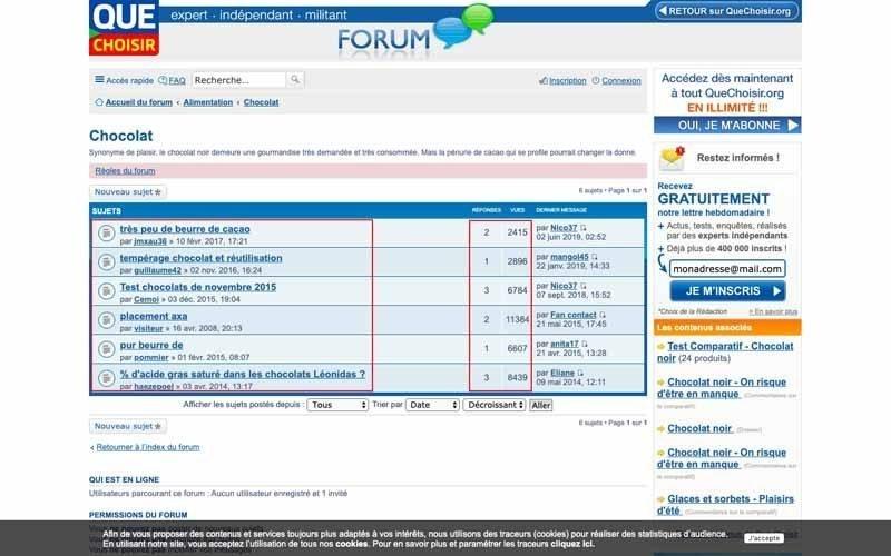 Regarder les themes de Forums