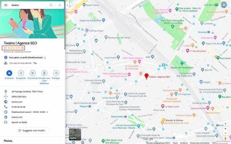 Avis Google Maps Twaino