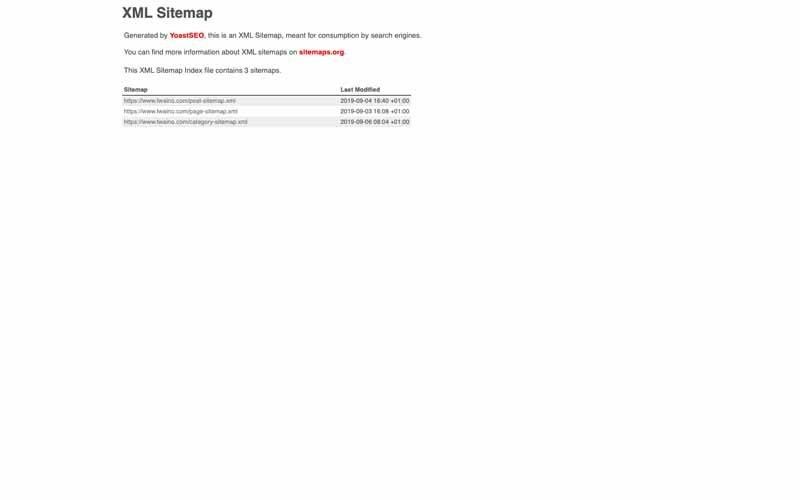 XML Sitemap Twaino Yoast SEO