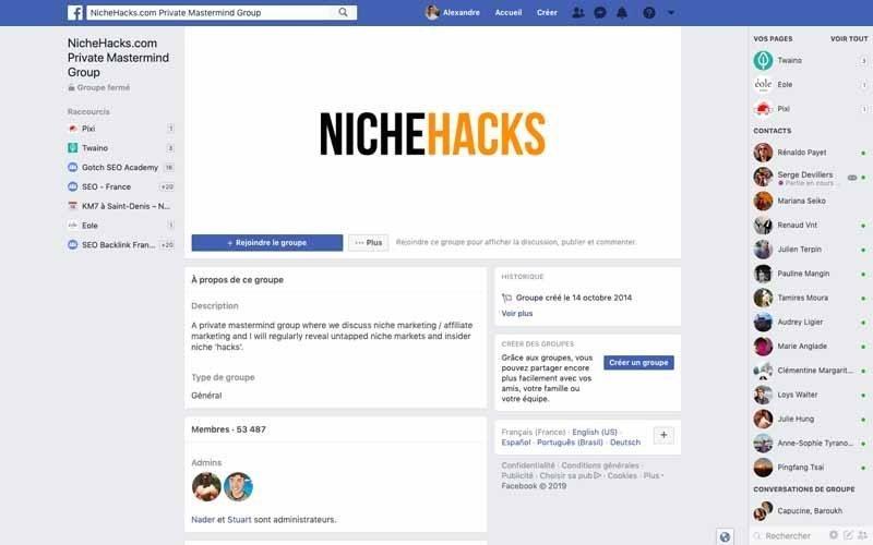 Page Facebook Niche Hacks