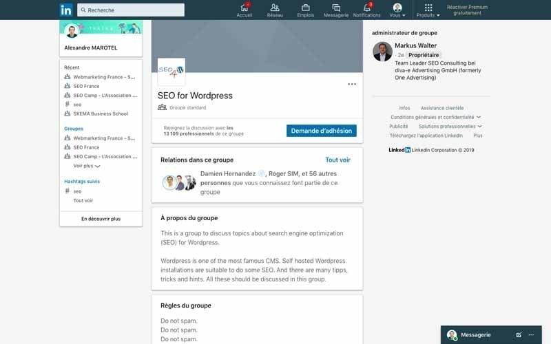 Page Linkedin SEO for WordPress