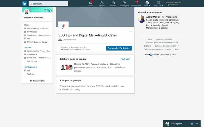 Page Linkedin SEO Tips and digital