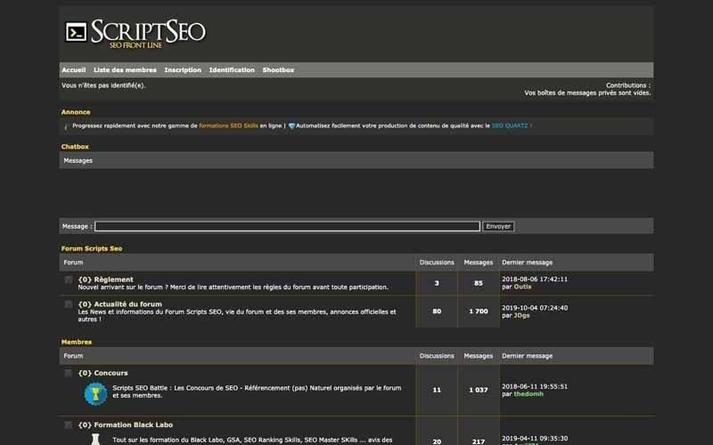 Forum Script SEO