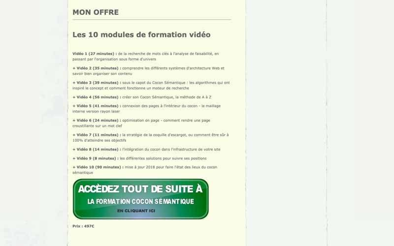 Formation cocon sémantique prix Bourrelly