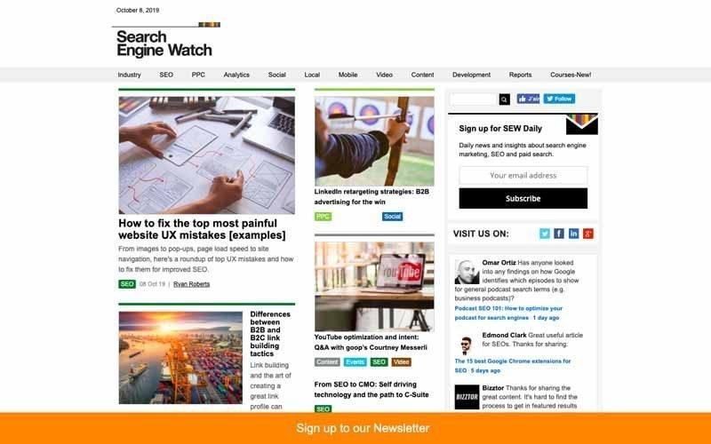 Blog Search Engine Watch