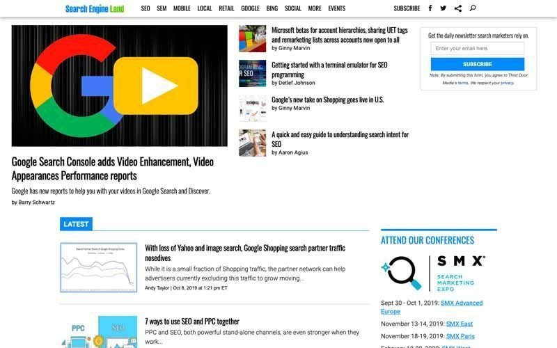 Blog Search Engine land