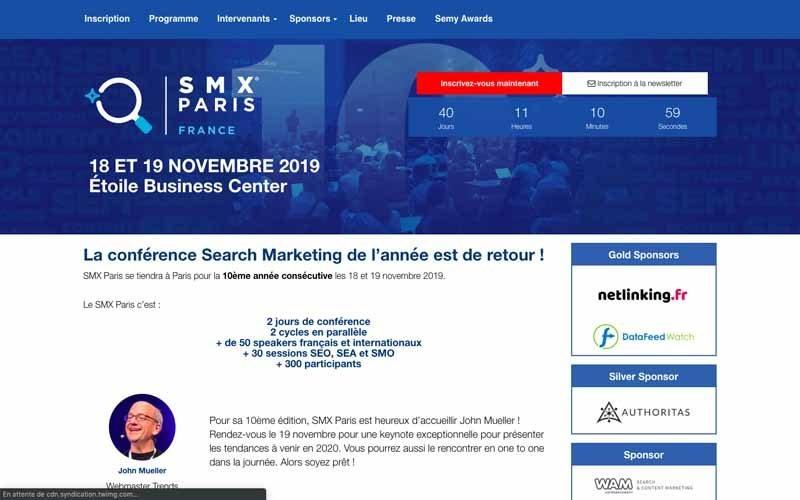 Evenement SMX Paris