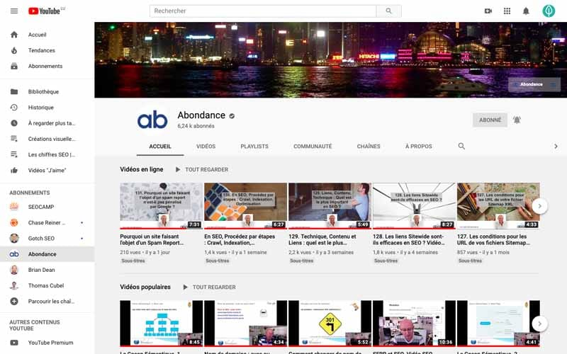 Chaine Youtube Abondance