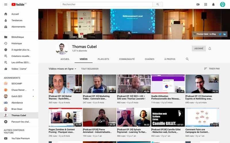 Chaine Youtube Thomas Cubel