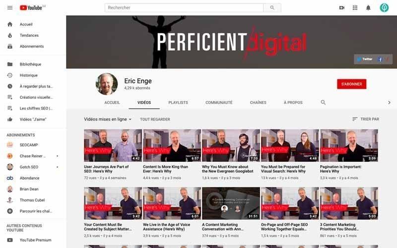 Chaine Youtube Eric Enge