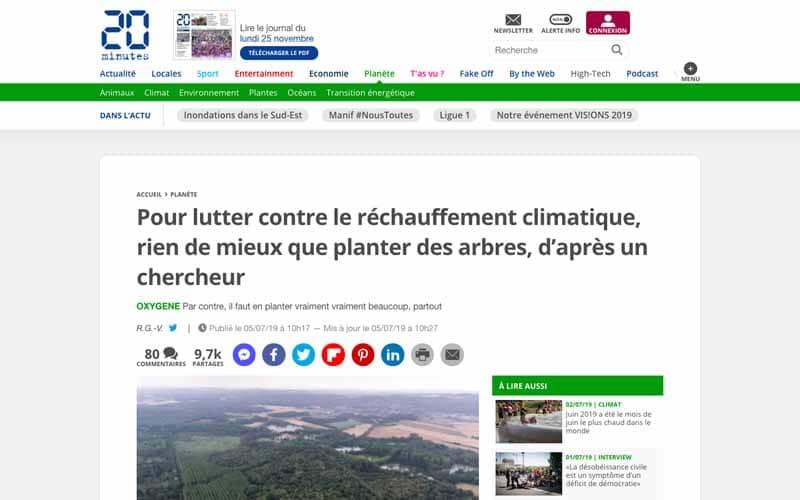 Article rechauffement climatique planter arbre