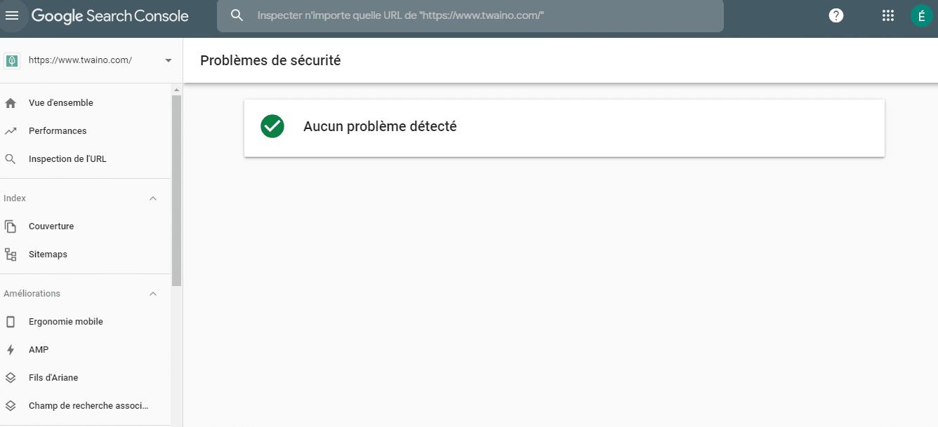 Probleme de securite aucun probleme detecte
