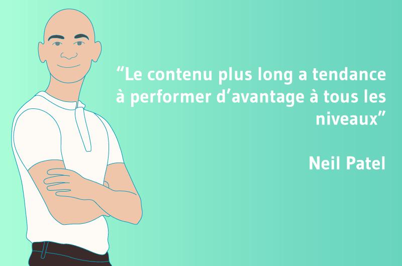 Le contenu plus long a tendance à performer d'avantage à tous les niveaux - Neil Pantel