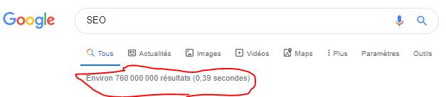 Vérfier le nombre de resultats